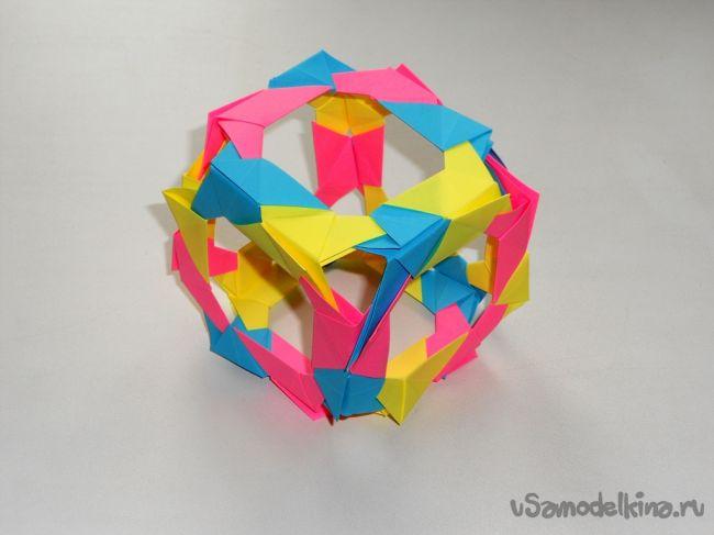 Оригами куб из бумаги 3D